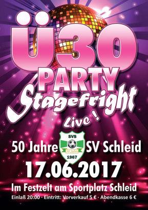 17.06.2017 Ü30 Party mit Stagefright in Schleid