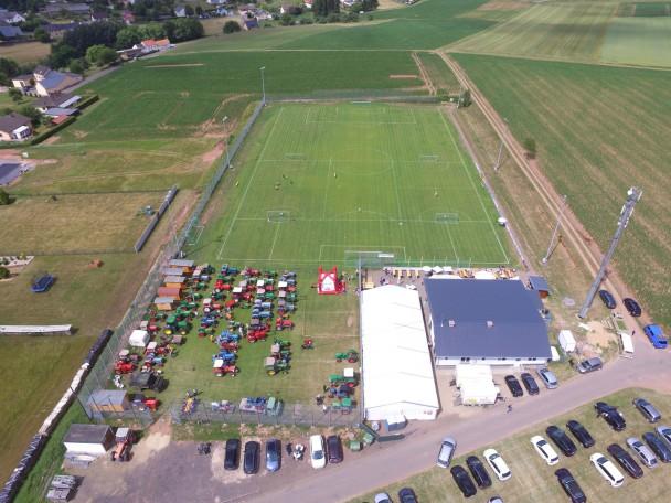 Sportfest SV Schleid 2017 Luftaufnahme