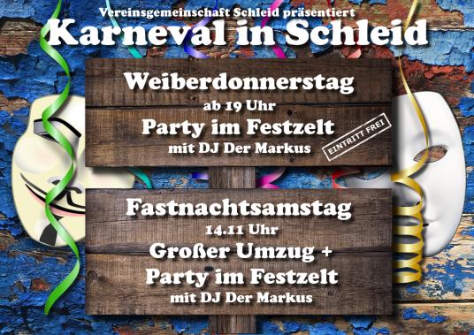 Karneval Fastnacht Weiberdonnerstag Schleid